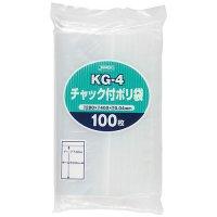 ジャパックス KG-4 チャック付ポリ袋 透明0.04