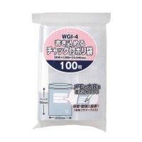 ジャパックス WGI-4 書き込めるチャック付ポリ袋 透明0.04