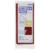 SN-03 サニタリーパック マチ付BOX ワインレッド0.03 10枚入り×120冊【1,200枚】