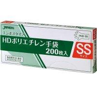 【新規受注停止中】PHB-SS HDポリ手袋 エンボスSS 200枚BOX 半透明 200枚入り×40箱【8,000枚】