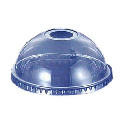 透明カップ 透明コップ プラカップドーム蓋 12オンス用 穴付き