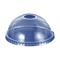 プラカップドーム蓋 12オンス用 穴付き