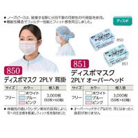 【新規受注停止中】ディスポマスク 2PLY 各色・各種 50枚入り×60箱【3,000枚】
