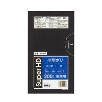 GH07 小型ポリ袋7L 黒 0.01 HHJ 200枚入り×30冊【6,000枚】
