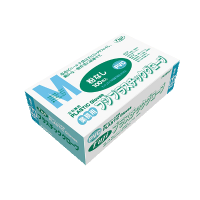 プラスチックグローブ M 粉無 PVC