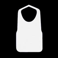 不織布エプロンF型 中 白 25×40
