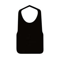 不織布エプロンF型 中 黒 25枚入り×40袋【1,000枚】