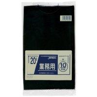P-22 業務用ポリ袋20L 黒0.03 LLDPE ジャパックス 10枚入り×60冊【600枚】