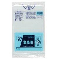 TM23 業務用ポリ袋20L 透明0.025 LL+meta ジャパックス 10枚入り×60冊【600枚】