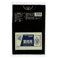 P-42 業務用ポリ袋45L 黒0.03 LLDPE ジャパックス 10枚入り×60冊【600枚】