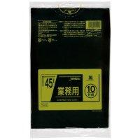 TM42 業務用ポリ袋45L 黒0.025 LL+meta ジャパックス 10枚入り×60冊【600枚】