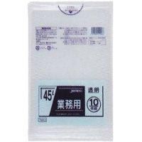 TM43 業務用ポリ袋45L 透明0.025 LL+meta ジャパックス 10枚入り×60冊【600枚】