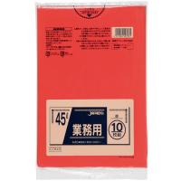 CCR45 カラーポリ袋45L赤 (10枚) 0.03 LLDPE ジャパックス 10枚入り×60冊【600枚】