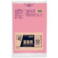 CCP45 カラーポリ袋45Lピンク (10枚) 0.03 LLDPE ジャパックス 10枚入り×60冊【600枚】