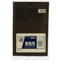 CCB45 カラーポリ袋45L茶 (10枚) 0.03 LLDPE ジャパックス 10枚入り×60冊【600枚】