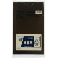 CCB70 カラーポリ袋70L茶 10枚 0.04 LLDPE ジャパックス 10枚入り×40冊【400枚】
