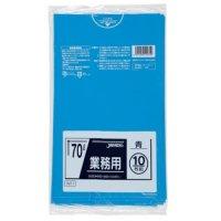 TM71 業務用ポリ袋70L 青0.035 LL+meta ジャパックス 10枚入り×40冊【400枚】