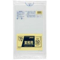 P-73 業務用ポリ袋70L 透明0.04 LLDPE ジャパックス 10枚入り×40冊【400枚】
