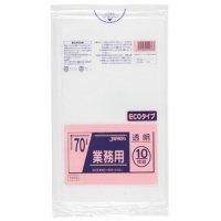 TM78 業務用ポリ袋70L 透明0.03 LL+meta ジャパックス 10枚入り×40冊【400枚】