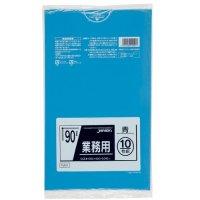 TM91 業務用ポリ袋90L 青0.04 LL+meta ジャパックス 10枚入り×30冊【300枚】