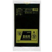 TM92 業務用ポリ袋90L 黒0.04 LL+meta ジャパックス 10枚入り×30冊【300枚】