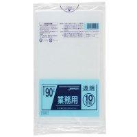 TM93 業務用ポリ袋90L 透明0.04 LL+meta ジャパックス 10枚入り×30冊【300枚】