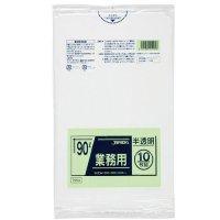 TM94 業務用ポリ袋90L 半透明0.04 LL+meta ジャパックス 10枚入り×30冊【300枚】