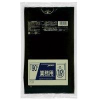 P-92 業務用ポリ袋90L 黒0.045 LLDPE ジャパックス 10枚入り×30冊【300枚】