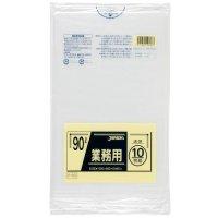 P-93 業務用ポリ袋90L 透明0.045 LLDPE ジャパックス 10枚入り×30冊【300枚】