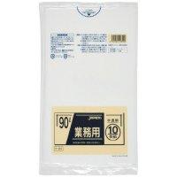 P-94 業務用ポリ袋90L 半透明0.045 LLDPE ジャパックス 10枚入り×30冊【300枚】
