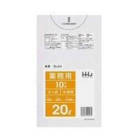 GL24 ポリ袋20L 半透明 0.03 LLDPE HHJ