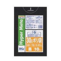 BM32 ポリ袋30L 黒 0.025 LL+MeTa HHJ