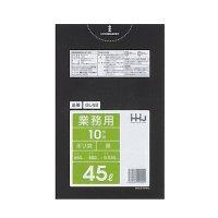 GL42 ポリ袋45L 黒 0.03 LLDPE HHJ