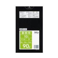 GL92 ポリ袋90L 黒 0.045 LLDPE HHJ 10枚入り×30冊【300枚】