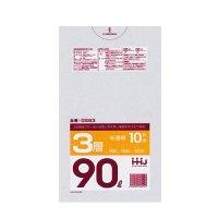 GS93 ポリ袋90L 半透明 0.018 HD/LD/HD HHJ 10枚入り×60冊【600枚】