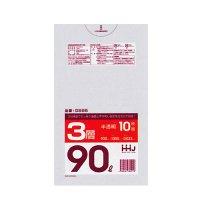 GS95 ポリ袋90L 半透明 0.023 HD/LD/HD HHJ 10枚入り×50冊【500枚】