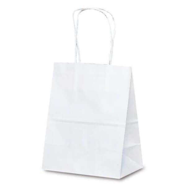 No.1217 T-2 自動紐手提袋 白無地が安い! 業務用品の大量購入なら激安通販びひん.shop。【法人なら掛け払い可能】【最短翌日お届け】【大口発注値引き致します】