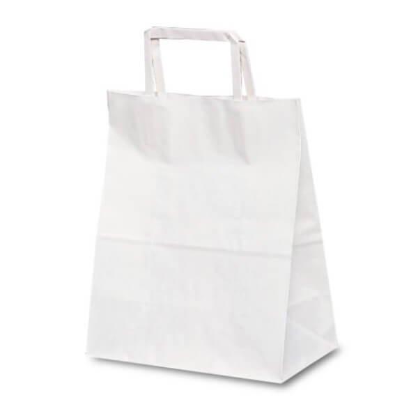 No.1975 T-Z 自動紐手提袋(平紐) 白無地が安い! 業務用品の大量購入なら激安通販びひん.shop。【法人なら掛け払い可能】【最短翌日お届け】【大口発注値引き致します】