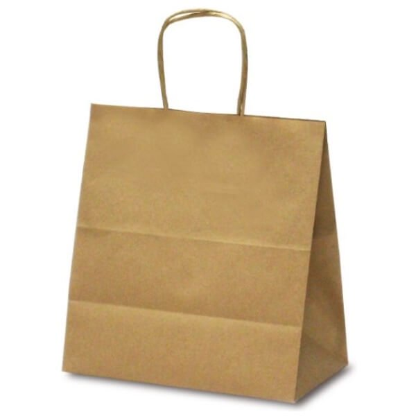 No.1628 T-5W 自動紐手提袋 茶無地 【200枚入り】が安い! 業務用品の大量購入なら激安通販びひん.shop。【法人なら掛け払い可能】【最短翌日お届け】【大口発注値引き致します】