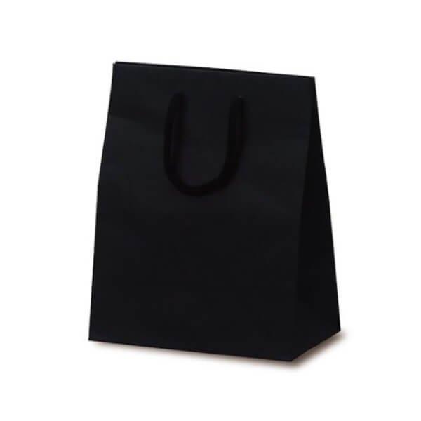 No.1037 T-2 カラークラフト手提袋 ブラック 【100枚入り】が安い! 業務用品の大量購入なら激安通販びひん.shop。【法人なら掛け払い可能】【最短翌日お届け】【大口発注値引き致します】