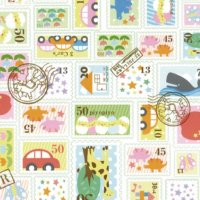 No.875 包装紙 プチスタンプ 4/6半切 【300枚入り】