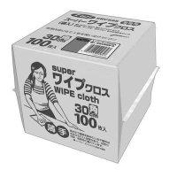 フジスーパーワイプクロス ホワイト 100枚箱入 12箱入り【1,200枚】