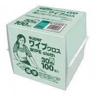 フジスーパーワイプクロス グリーン 100枚箱入 12箱入り【1,200枚】