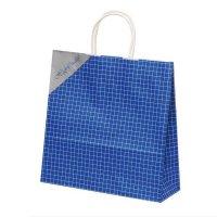 自動手提袋X型(3切) HX ネットブルー 【200枚入り】