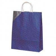 自動手提袋Z型(2切) HZ ネットブルー 【200枚入り】