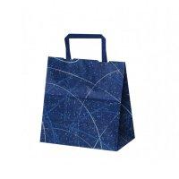 自動手提袋 平紐 H平22 ゆうびブルー 【200枚入り】