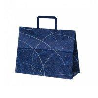 自動手提袋 平紐 H平32 ゆうびブルー 【200枚入り】