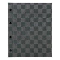 【3冊よりお届け可能】チェック柄メニュー MB-308(大・A4・4穴) グレーブラック/アイボリー/ブラウン