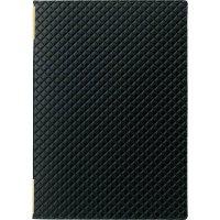【3冊よりお届け可能】合皮キルトピンホール メニュー LB-822(中・B5) 黒/赤