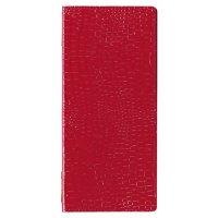 【3冊よりお届け可能】クロコレザータッチピンホールメニュー GB-125(タテ小) レッド/ブラウン/ブラック